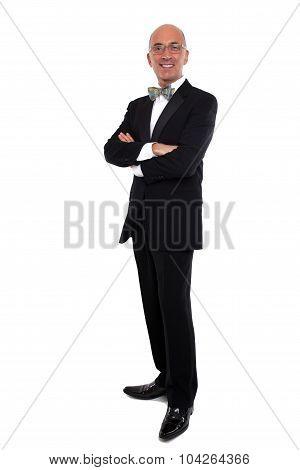 Handsome man in a tuxedo
