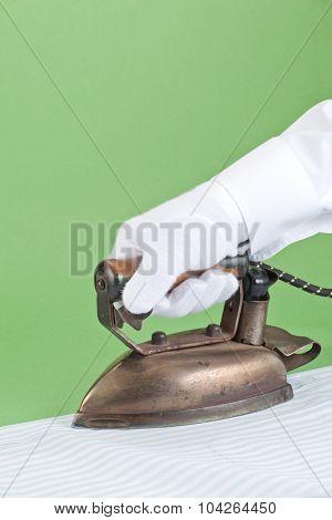 Butler ironing