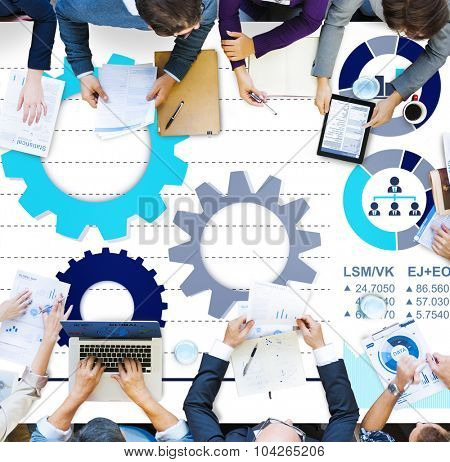 Teamwork Collaboration Strategy Business Marketing Concept