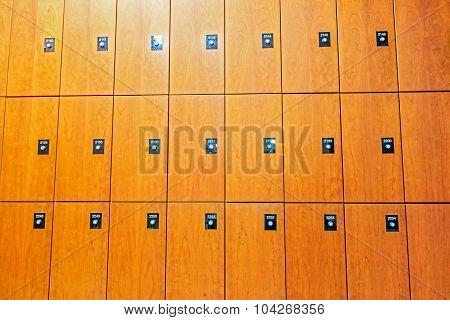 Front Of Wooden Locker
