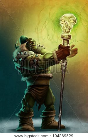 The Strong Orc Shaman