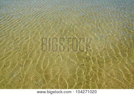 Ripples On A Water Surface.