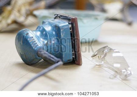 Blue Electric Sander