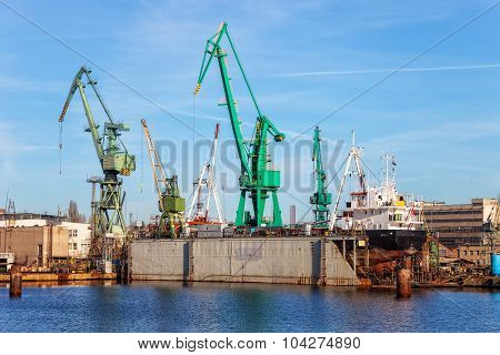 Ship On A Dry Dock