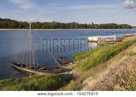 Loire River In Montsoreau, Maine-et-loire, Pays De La Loire, France