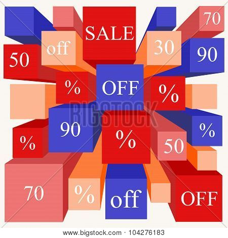 Info-graphic Elements. Sale. Stock Vector