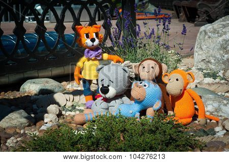Soft Toys In Park