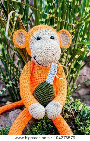 Soft Toy - Monkey With Grenade