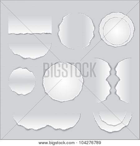 Torn Paper Shadow, Background. Eps10-vector Stock