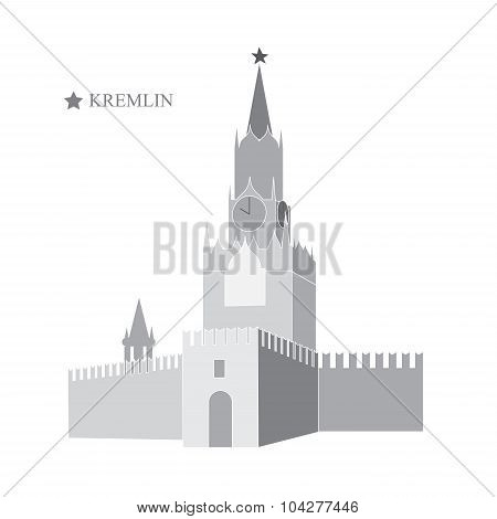 Kremlin. Moscow. Banner Design. Stock Vector