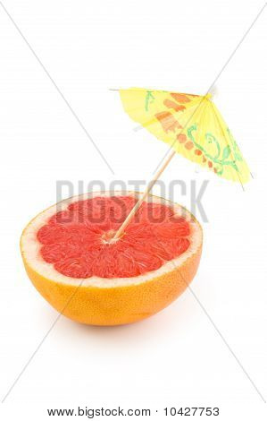 Grapefruit And Umbrella