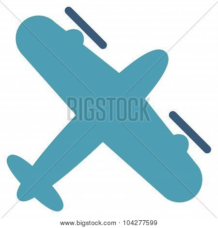 Screw Aeroplane Flat Icon