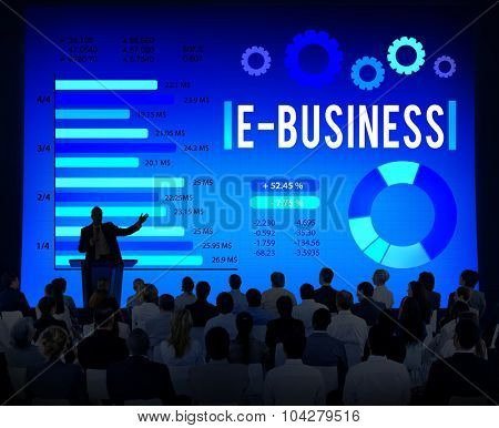 E-Business Online Marketing Strategy Corporate Concept