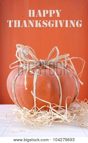 Modern Decorated Pumpkin Centerpiece