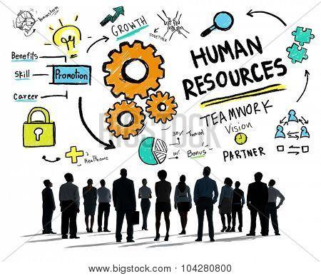 Human Resources Employment Job Teamwork Business Aspiration Concept