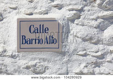 Street Of Bubion, Las Alpujarras, Granada Province, Andalusia, Spain