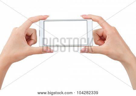 Hand holding phone