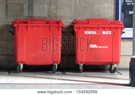 Red Waste Containers