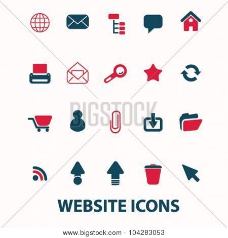 website, internet icons