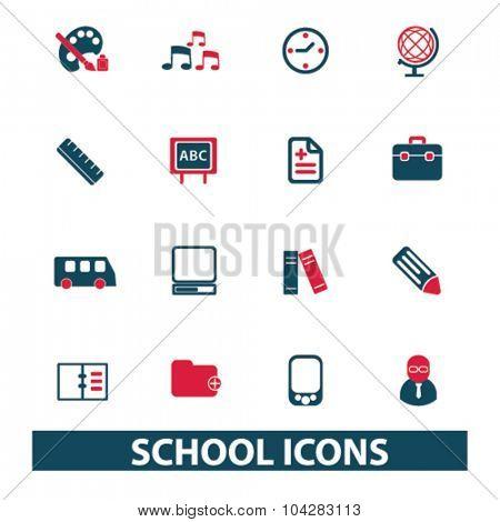 school, study, lesson icons