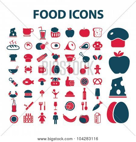 food, drinks, grocery, restaurant icons