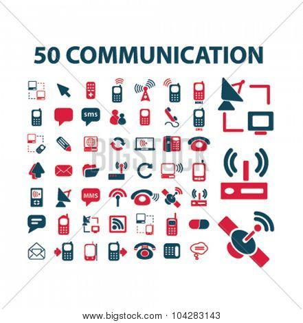 50 communication, connection icons
