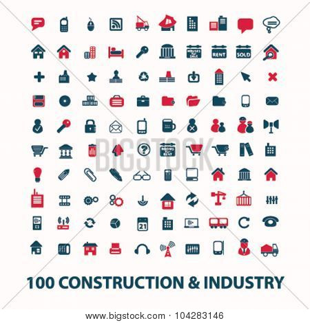 100 construction, industry icons