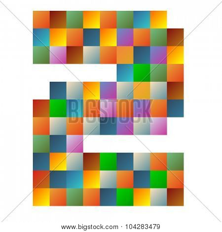 Two number rainbow colorful sparkling vector illustration