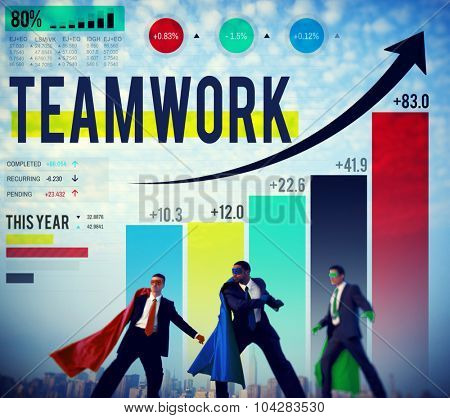 Teamwork Corporate Collaboration Connection Partnership Concept