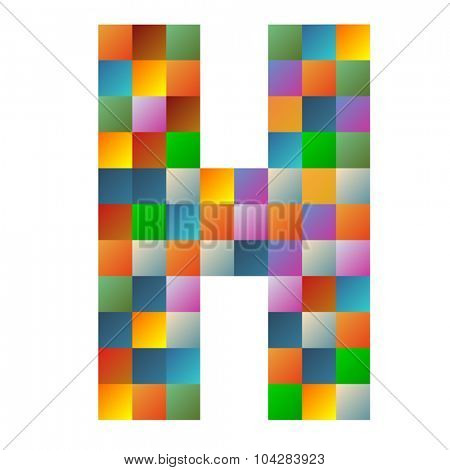 H, Hotel letter rainbow colorful sparkling vector illustration