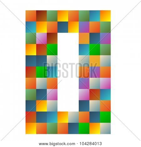 zero number rainbow colorful sparkling vector illustration