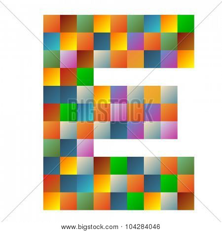 Echo letter rainbow colorful sparkling vector illustration