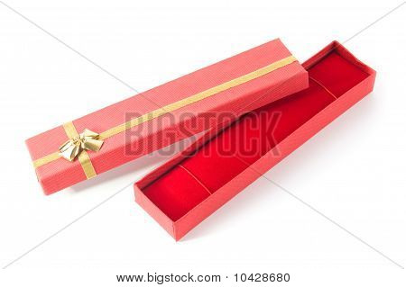 Long Open Red Gift Box