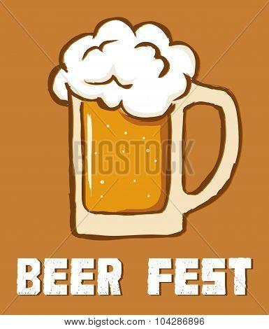 Beer Festival In Retro Style
