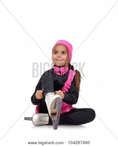 Girl Figure Skating Skates Laces