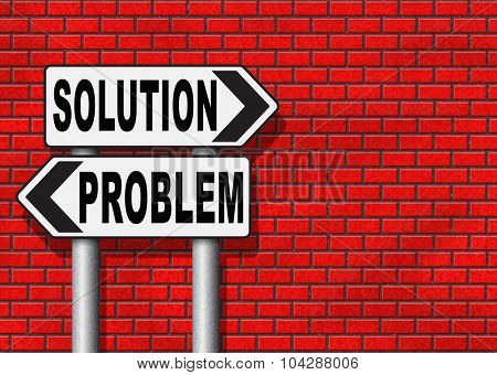problem solution searching solutions by solving problems road sign