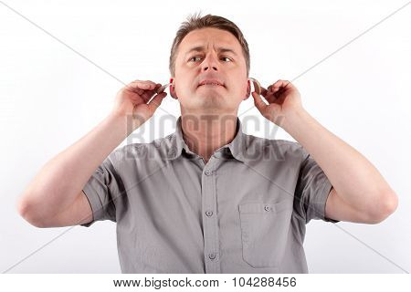 Man With Hearing Aids