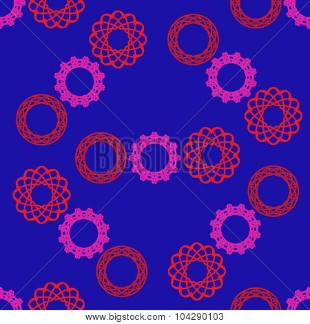 Seamless Pattern With Circular Ornament