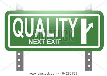 Quality Green Sign Board Isolated
