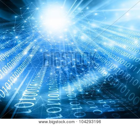 Best Internet Concept of global business.Technological background. Electronics, Wi-Fi, rays, symbols of the Internet, television, mobile and satellite communications
