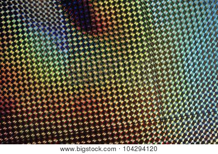 holographic pattern blur
