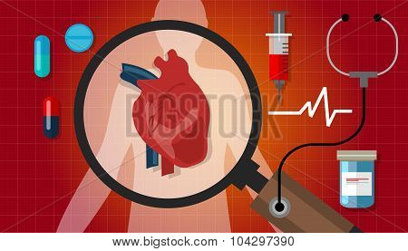 heart disease attack human health cardiology cardiovascular icon