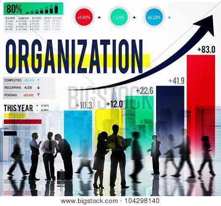 Organization Management Network Corporate Connection Concept
