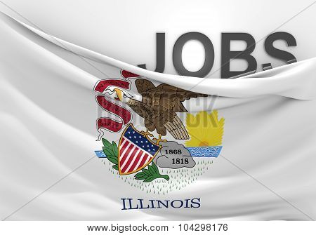 Illinois jobs and employment opportunities concept