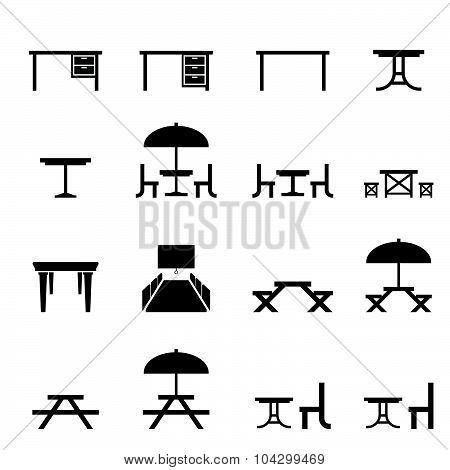 Table Icon Set