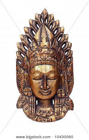 Golden mask of Vishnu