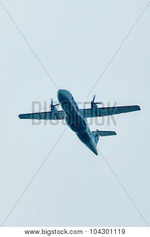 Flying ATR-42 of Utair company