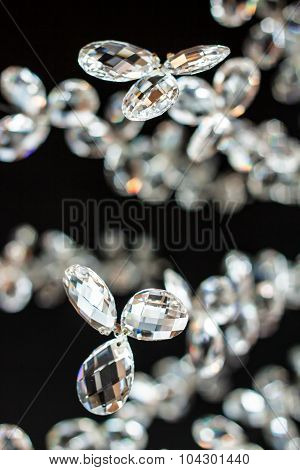 abstract background with many hanging glass balls