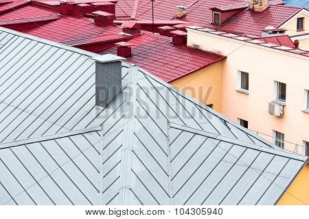Old Houses With New Metal Roofs