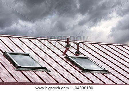New Metal Roof With Skylights